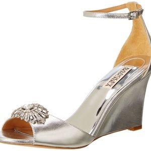 BADGLEY MISCHKA • Harmony II Wedge Slingback Heels